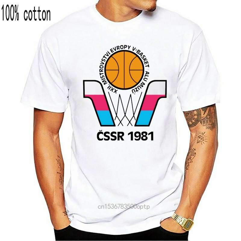 European, Euro, Basketball, Championship, 1981, CSSR, Czechoslovakia Russia, Sov Cartoon t shirt men Unisex New Fashion