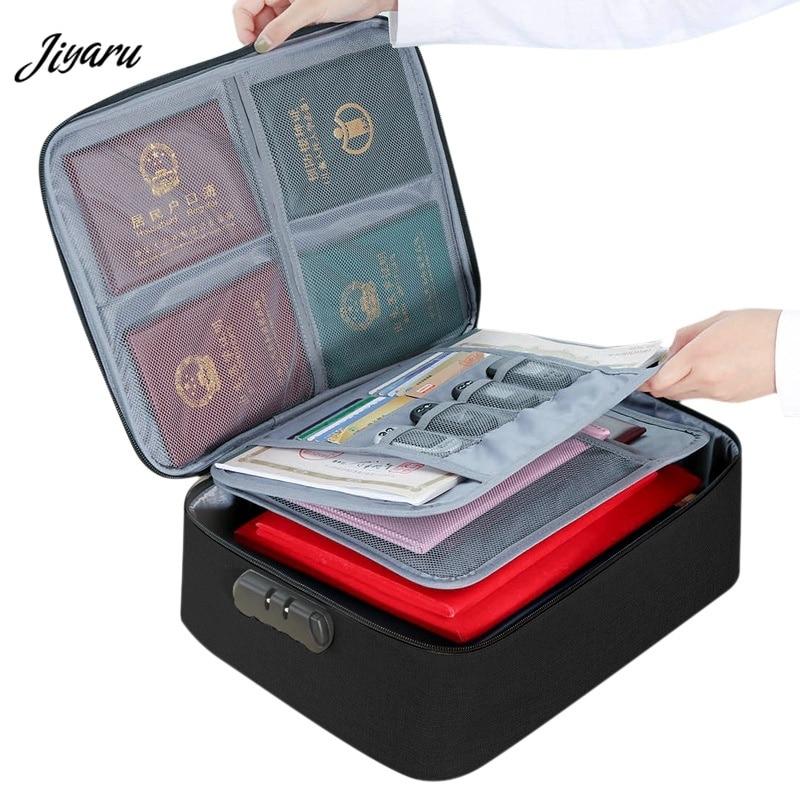 New Document Bags Large Capacity Files Organizer Travel Bags Cosmetic Box Waterproof Digital Bags Document Organizer