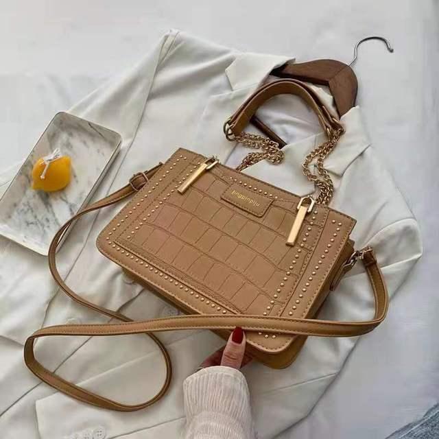 Купить женская текстурная сумка на цепочке через плечо стильная универсальная