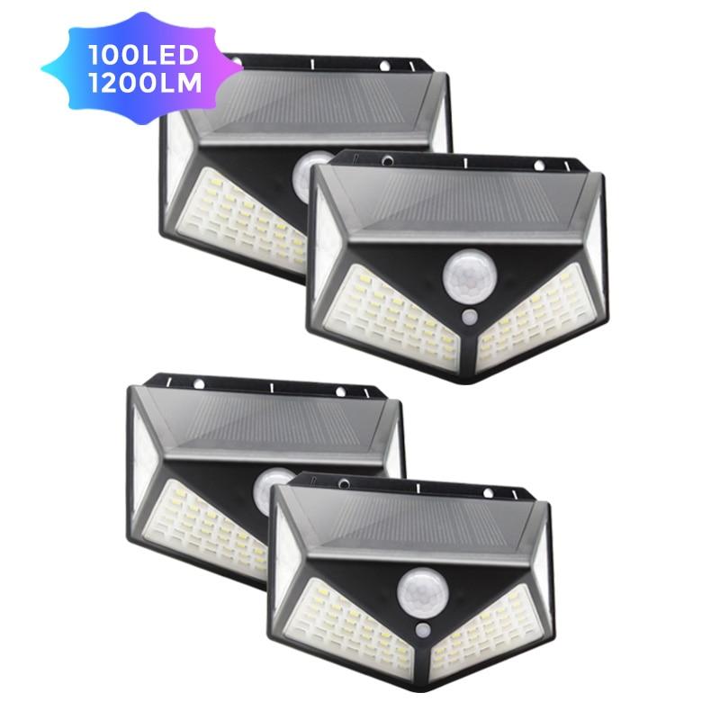 ZAHORIO 100 LED Solar Light Outdoor Solar Lamp Powered Sunlight Waterproof PIR Motion Sensor Street Light For Garden Decoration