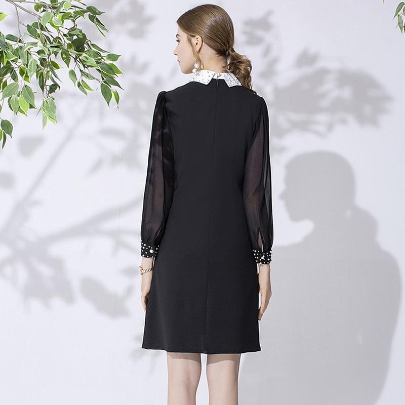 Tingfly/дизайнерское элегантное платье принцессы Kate Королевского синего цвета; женское винтажное платье до колена для работы в офисе с поясом; ... - 3