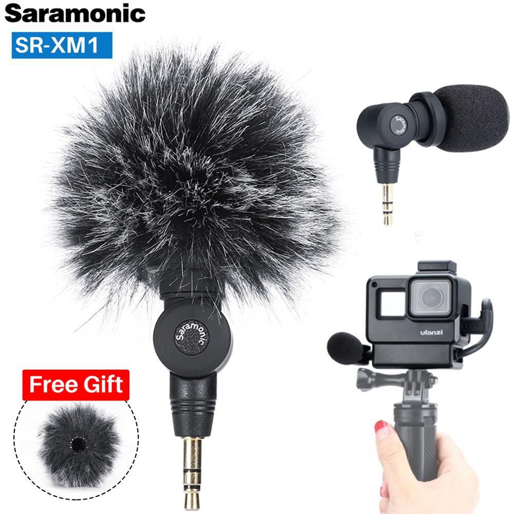 Saramonic SR-XM1 3.5mm Wireless Microphone GoPro Vlog Video Mic For GoPro Hero 7 6 5 DSLR Cameras DJI Osmo Action Osmo Pocket