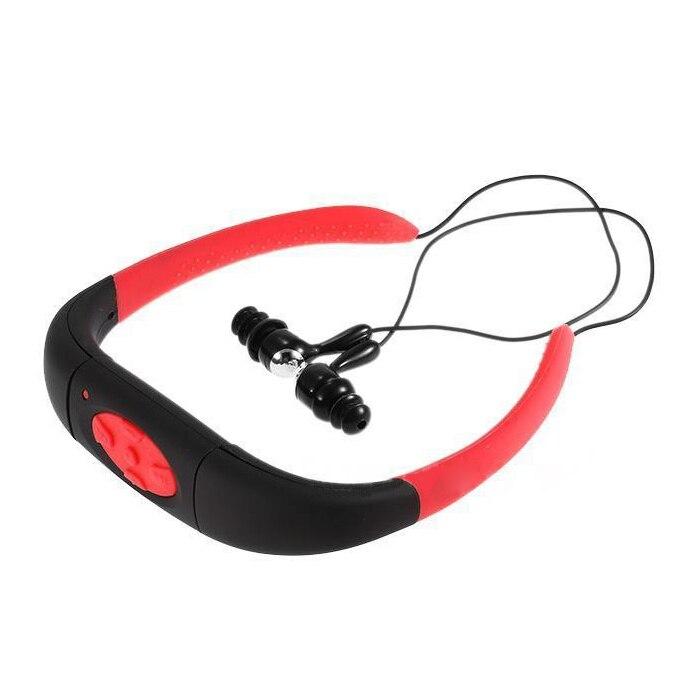 ABKT-Sport Waterproof 8GB Swimming Diving Underwater MP3 Player FM Radio Earphone