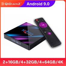 TV, pudełko z systemem Android 9.0 H96 MAX RK3318 TVBOX H96MAX odtwarzacz multimedialny 4K 4GB 32GB 64GB 128GB Wifi wsparcie DLNA Android 9 inteligentny dekoder