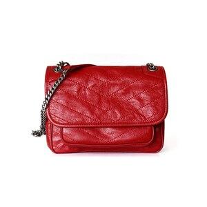Image 5 - Hakiki gerçek deri inek derisi çanta kadın moda Y bayanlar için popüler 2019 çok kullanımlı omuzdan askili çanta