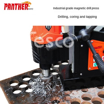 Positive and negative magnetic seat drill tapping machine table drill hole drill iron suction drilling machine multifunction magnetic block drilling j1c ff 23 desktop drill hole electric magnetic drill can be used for drill bit