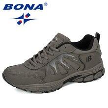 BONA 2019 นักออกแบบใหม่หนัง Action กีฬารองเท้าวิ่งรองเท้ากลางแจ้ง Zapatillas Hombre ผู้ชายรองเท้าเทรนเนอร์รองเท้าผ้าใบ Man