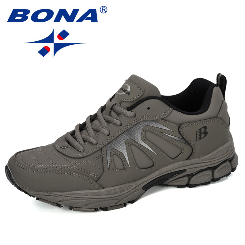 BONA 2019 New Designers Action Leather Sport Shoes Running Shoes Men Outdoor Zapatillas Hombre Men Footwear Trainer Sneakers Man