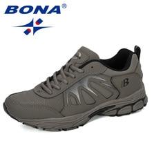 BONA 2019 חדש מעצבי פעולה עור ספורט נעלי ריצה נעלי גברים חיצוני Zapatillas Hombre גברים הנעלה מאמן סניקרס איש
