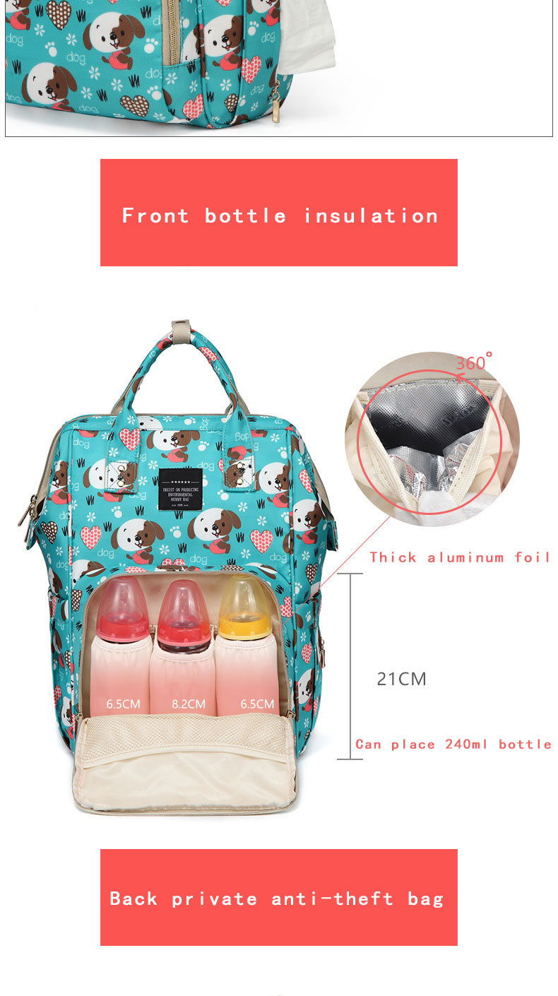 Hc92925f5e6524d60a080d894f573666ev Fashion Mummy Maternity Nappy Bag Waterproof Diaper Bag With USB Stroller Travel Backpack Multi-pocket Nursing Bag for Baby Care