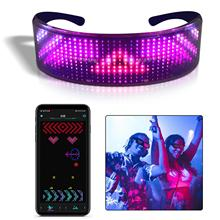 Stylish Full Color Luminous Glasses with LED Light Birthday Party Carnival Props Magic Scrolling Led text Message Glasses