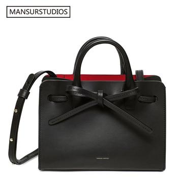 MANSURSTUDIOS  Women Split leather Sun Bags ,Mansur lady Shoulder Bag, Gavriel Tote Bag for women ,Party Handbag