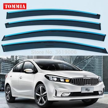 tommia Brand New For KIA K3 Window Visor Shade Vent Wind Rain Deflector Guards Cover 4pcs/Set