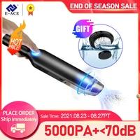 E-ACE Auto Staubsauger 5000Pa Tragbare Handheld Auto Tragbare Wireless Leistungsfähige Auto Mini Staubsauger Für Auto & Haus zyklon