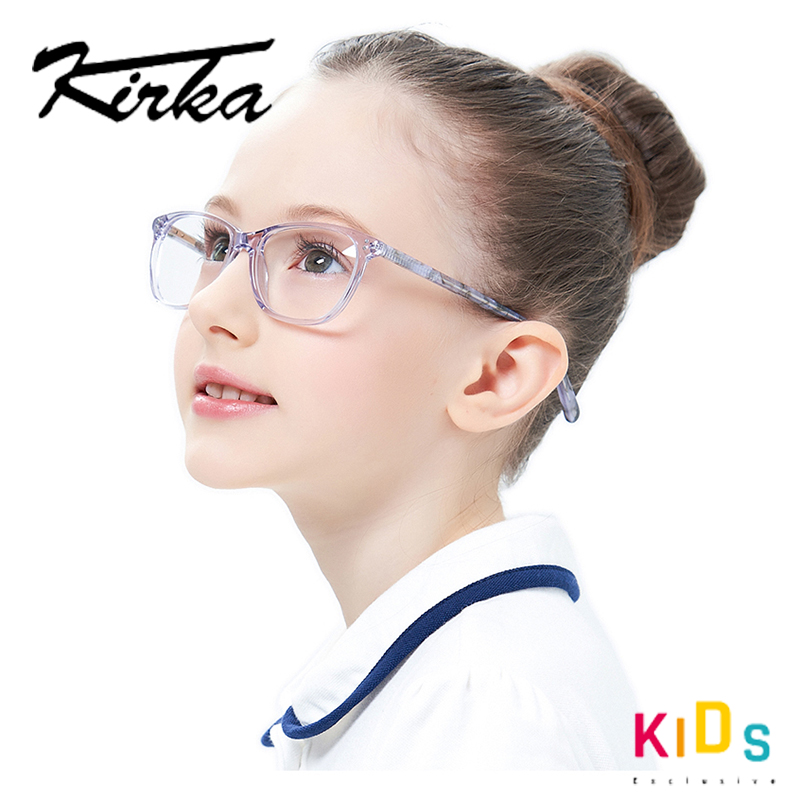 Girls Cute Design Acetate Kids Glasses Frame Square Kids Eyewear Myopia Optical Eyeglass Frames For Children