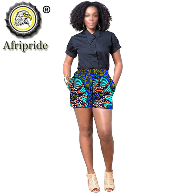 2020 african print summer shorts for women women casual shorts plus size dashiki short ankara fabric AFRIPRIDE S1921005 Women's Clothing & Accessories