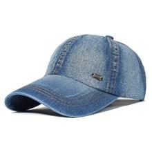 Vintage Washed Cotton Baseball Cap Men Women Denim Dad Hat Adjustable Trucker Style Low Profile