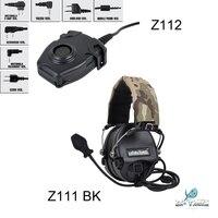 מכשיר הקשר Z-TAC ZSordin הפחתת רעש אוזניות Z111 BK וזה מכשיר הקשר שילוב PTT Z112 (1)