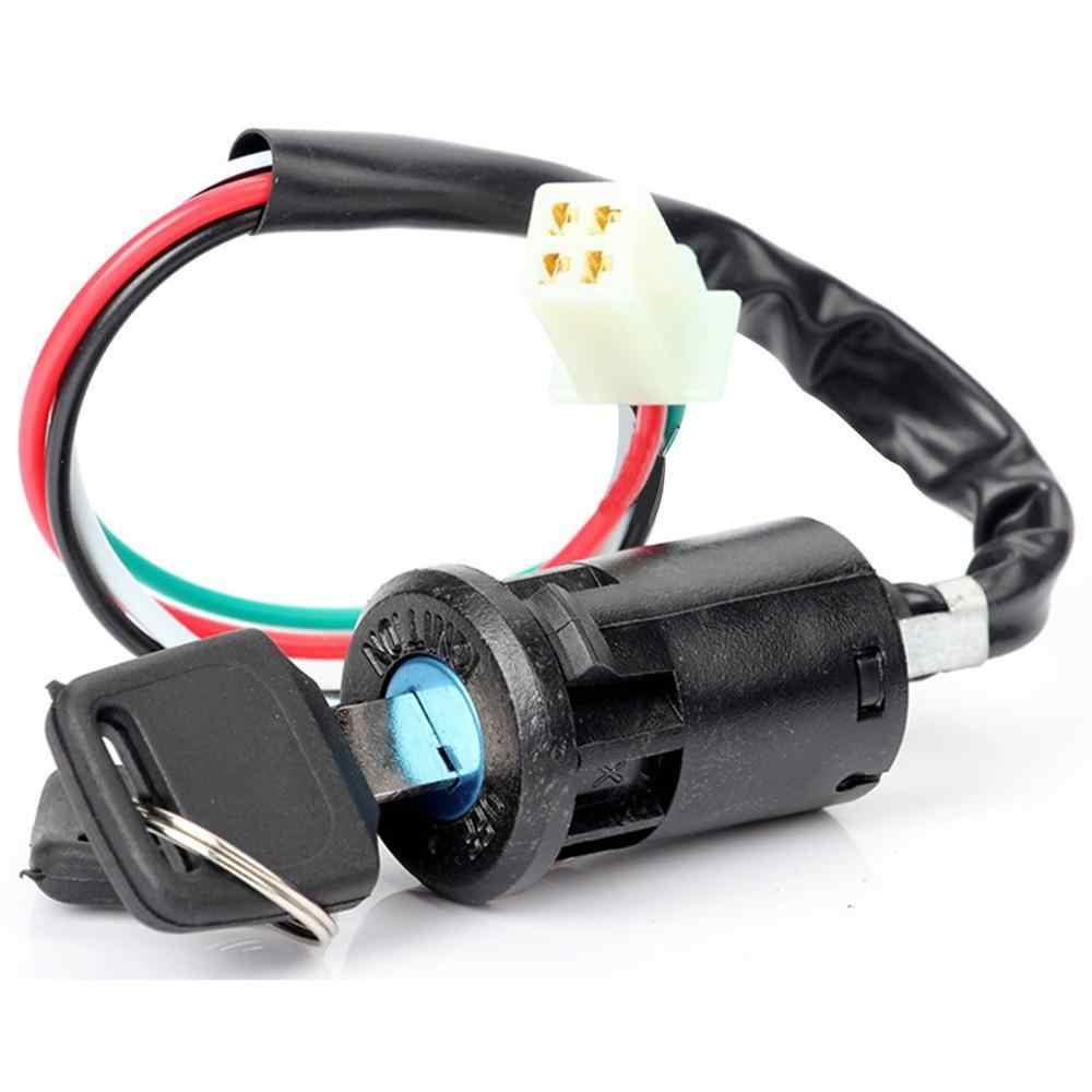 Fora de estrada motocicleta modificado universal pequeno jogo alto atv iniciar interruptor de ignição interruptor de chave de bloqueio de porta elétrica
