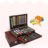 130PCS Watercolor Drawing Art Marker Brush Pen Set Children Painting Art Set Tools Kids For Gift Box Office Stationery Supplies