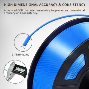 Image 3 - PLA Filament Silk 1kg 1.75mm Shiny Color Silk Texture High Toughness Diameter Tolerance 0.02mm FDM 3D Printer Printing Material