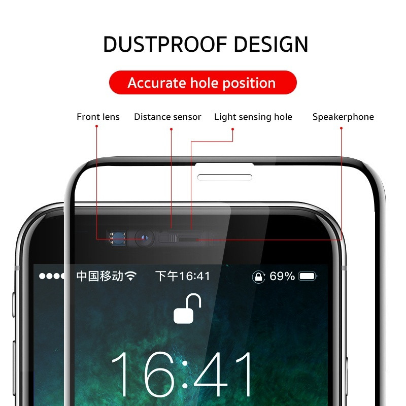 9D Protective Glass For iPhone 6s 7 8 Plus X Glass On iPhone 7 6s 8 X R XS MAX Screen Protector for iphone 7 plus tempered glass in Phone Screen Protectors from Cellphones Telecommunications