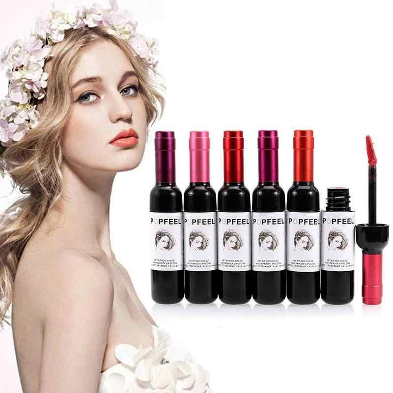 Nouveauté vin rouge Style coréen mat teinte à lèvres imperméable à l'eau pour les femmes maquillage liquide rouge à lèvres brillant à lèvres rouge lèvres cosmétique