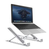 ホット販売ラップトップスタンド繊細なデザイン金属アルミ合金調整可能な人間工学的折りたたみホルダー 10 のための 15.6 インチのラップトップ