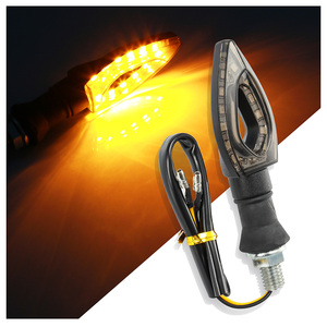 12 LED Motorcycle Turn Signals Light Tail Lights Indicators yellow for Moto Motorbike Motorcycle Accessories