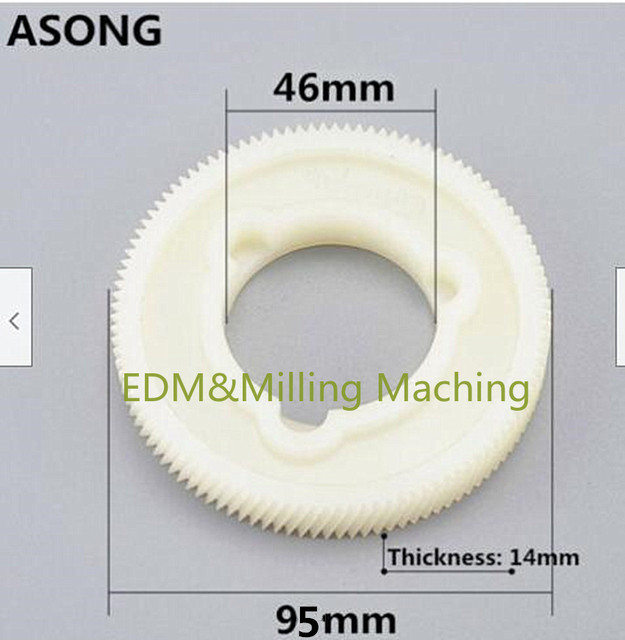 Milling Machine Parts Power Feed Plastic Gear SBS ASONG ALSGS TON-E ALIGN Servo