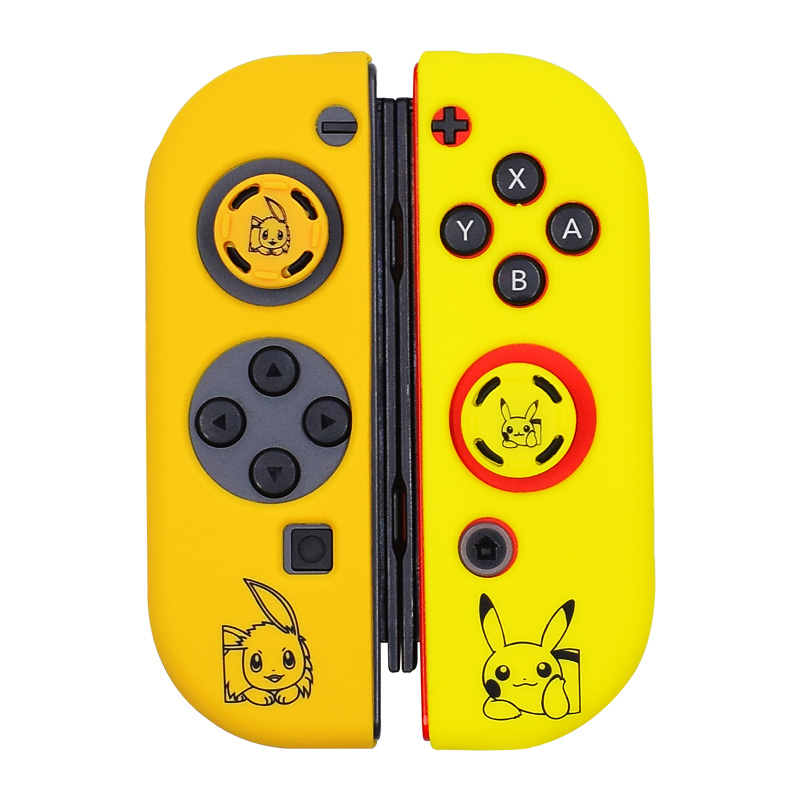Joycon Cover Protector Guard For Nintendo Switch Controllers Silicone Skin Anti-Slip Pair With 2 Anti-slip Silicone Grips Cover