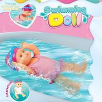 Automatically Multiple Independent Swimming Styles Electric Waterproof Bathroom Beach Swimming Pool Summer Game Toy Doll for Kid