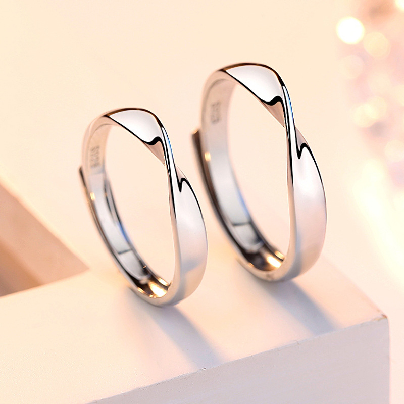 Couples Rings Gift Fashion Jewelry Anniversary Wedding-Alloy Unisex Women Simple 1PC
