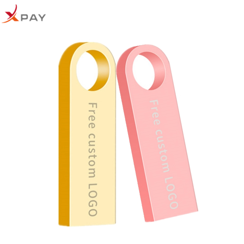 Usb flash drive keychain 16GB metal 2.0 pendrive 32GB pen drive 128GB 64GB 8GB 4GB usb stick High Speed flash disk free shipping-in USB Flash Drives from Computer & Office