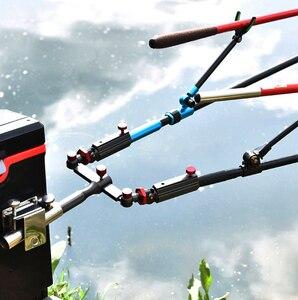 Image 5 - العالمي الصيد اكسسوارات حامل المظلة قوس كرسي قابل للتعديل جبل الدورية الصيد رود حامل رف الصيد أداة ثابتة