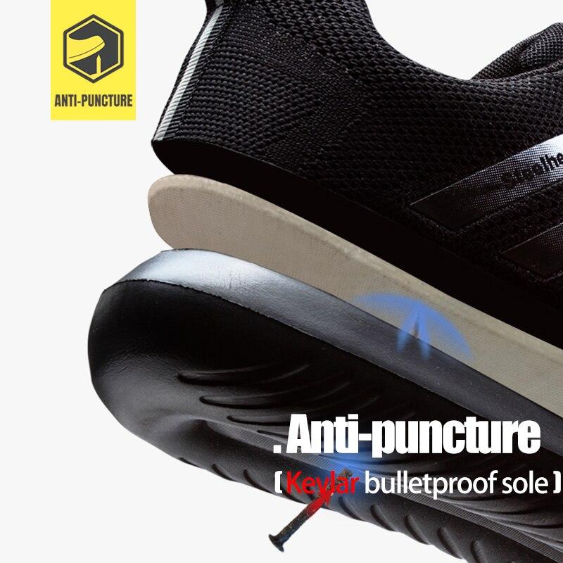 Zapatos de seguridad de trabajo de punta de acero para hombre LARNMERN zapatos de protección de construcción ligeros transpirables antigolpes-in Botas de seguridad y de trabajo from zapatos    3