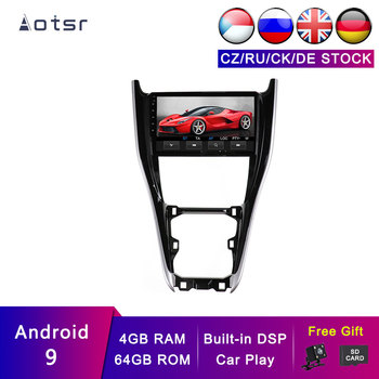 AOTSR Android 9 Car Navigation Tracker For Toyota Harrier 2013 - 2019 Car GPS Auto Accessories DSP Player Head Unit 4G + 64G