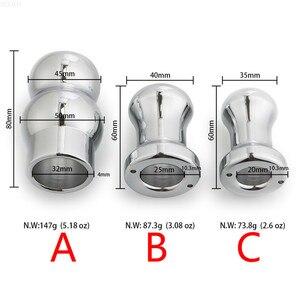 Image 3 - Metal oco anal plug expansor feminino masculino sexo brinquedos 35/40/45mm dispositivo de expansão aço inoxidável ferramentas enema vaginal peep