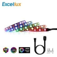 Striscia LED RGB 5V indirizzabile ws2812b striscia per PC case scheda madre 3 pin Header per ASUS Aura SYNC,MSI Mystic Light SYNC