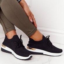 Baskets en maille à lacets pour femmes, chaussures de sport décontractées, vulcanisées, antidérapantes, respirantes et à la mode