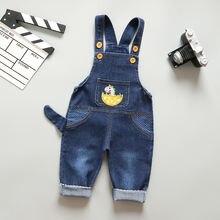 Джинсовый комбинезон для младенцев мальчиков джинсовый с животным