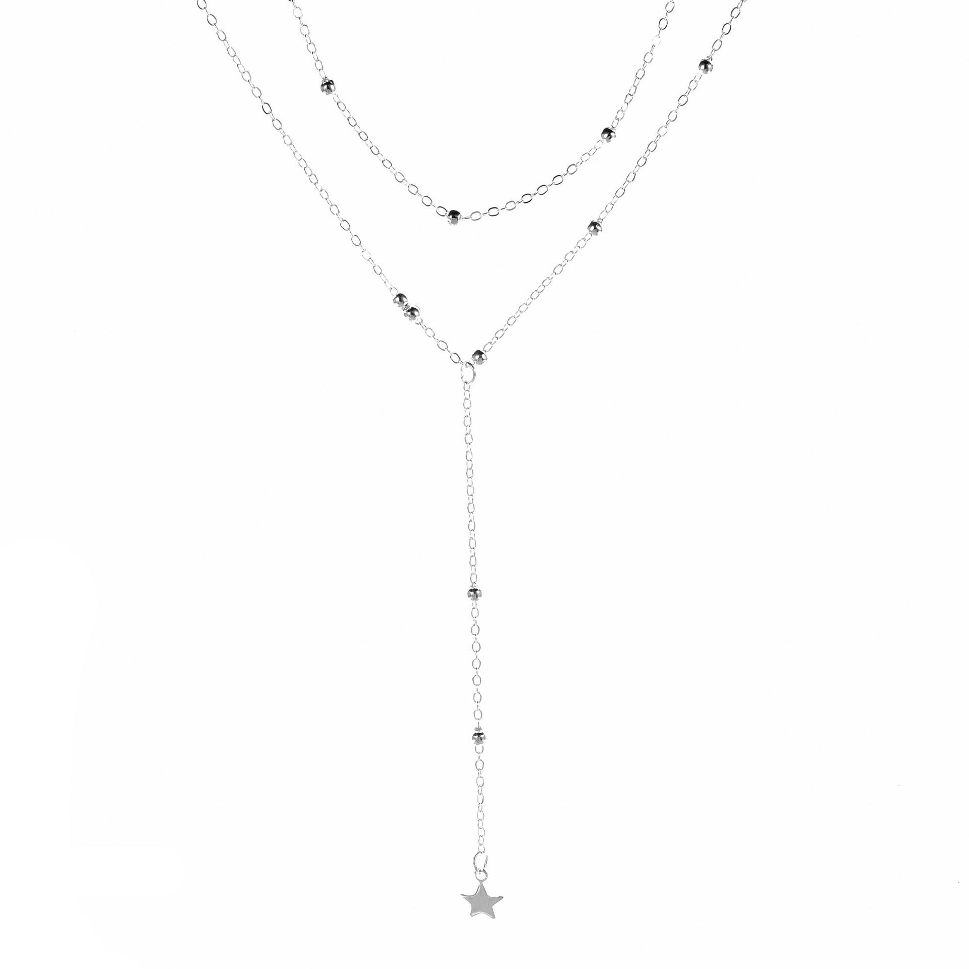 Hot Selling New Products Versitile Fashion Women's Short Clavicle Necklace Five-pointed Star Pendant Necklace Necklace