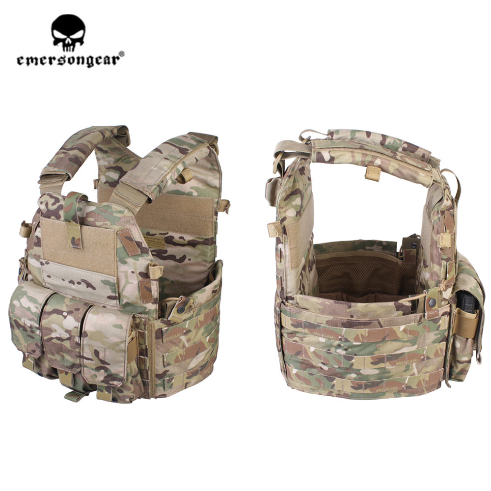 Emersongear Emerson 094K M4 Pouch Type Tactical Combat Vest Hunting Airsoft Body Armor Molle Plate Carrier