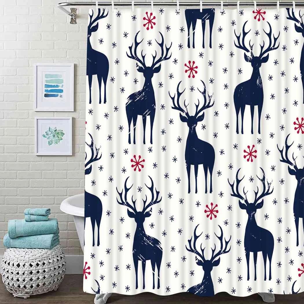 deer christmas bathroom decor