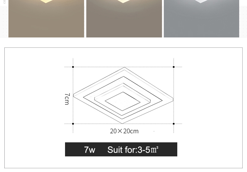 Hc92b57bd8b2c4df9b124e327a8ba2ccfh Modern ceiling lights 12w for hallway balcony corridor Coffe white light lamps bedroom luminaria teto acrylic lamparas de techo