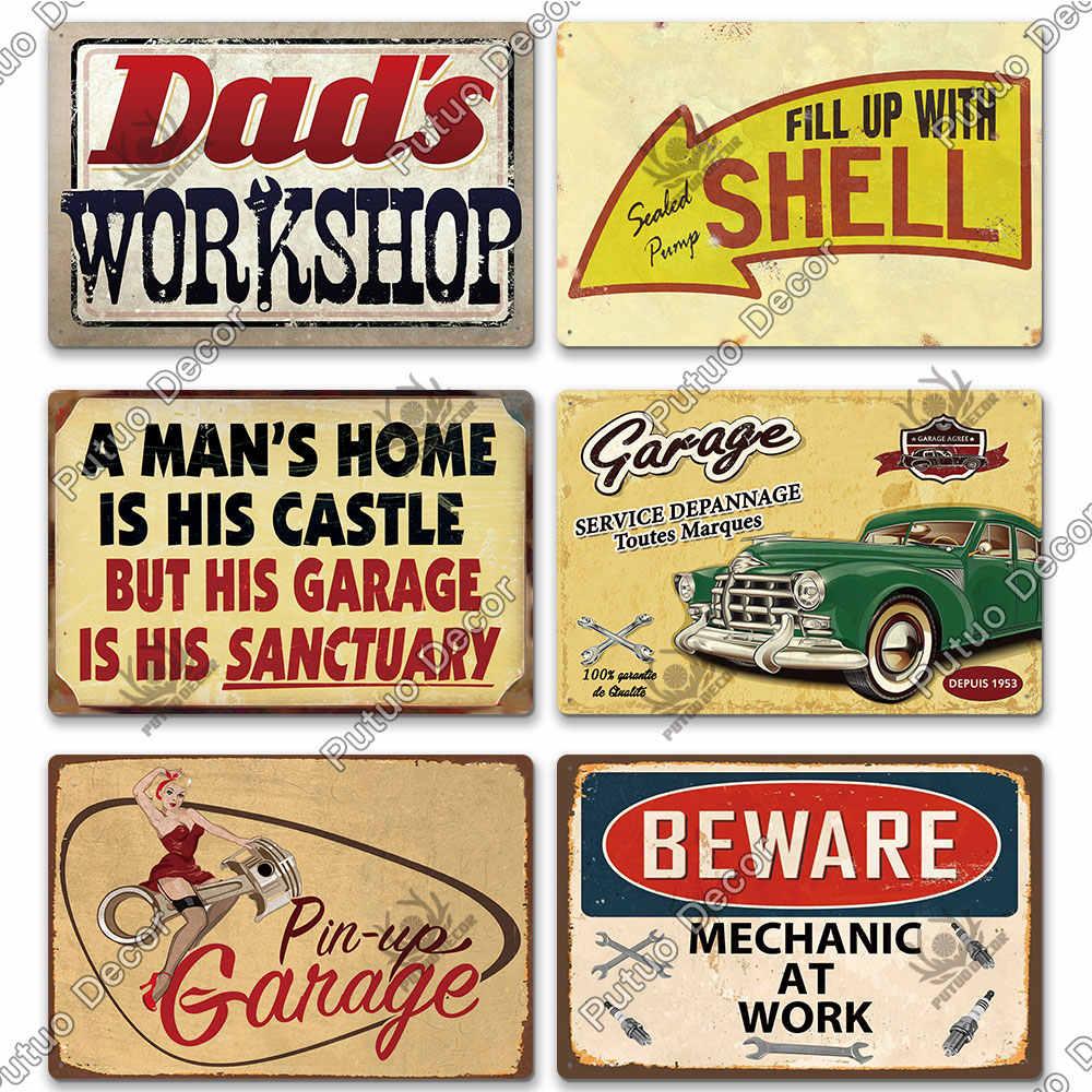 Harley Hill subir sinal Metal Rústico Vintage Bar Garagem Galpão Estanho homem da caverna Placa