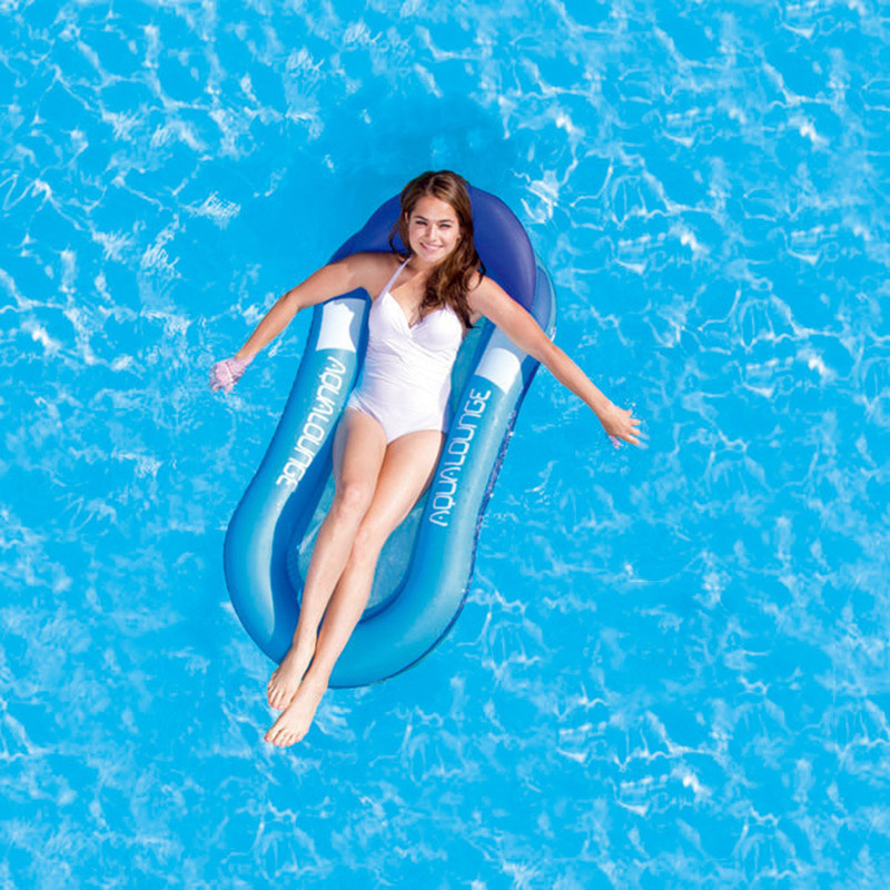 Summer Children's Blue Swimming Floating Bed Adult Increase Floating Chair Solid Color Watermelon Red Adult Inflatable Chair