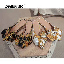 цены Flat Slippers Designer Slides Women Mules Shoes Sexy Butterfly-knot Dress Woman Shoes Luxury Slippers Female Home Mules