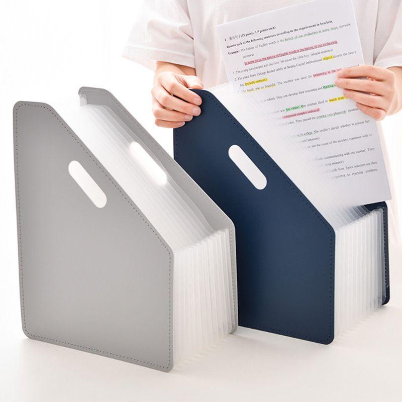 13 Pockets Desk File Folder Document Paper Organizer Storage Holder Multilayer Expanding Box