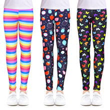 NEW Girls Leggings Kids Girls Clothes Flower Printing Elastic Trousers Children Leggings for Girl Wear 4-14 Years